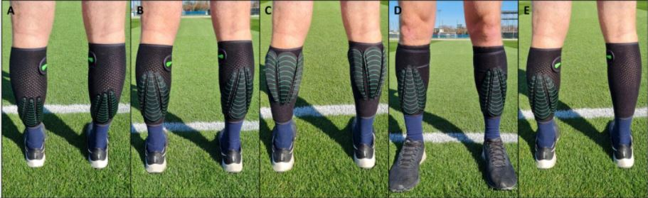 A to E, pictures of lower leg loading
